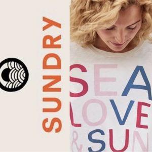 Sundry sea love sun short sleeve crew t-shirt